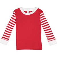 Toddler Long-Sleeve Baby Rib Pajama Top Thumbnail