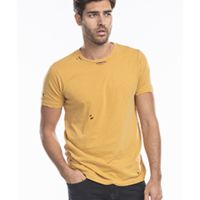 Unisex Pigment-Dyed Destroyed T-Shirt Thumbnail