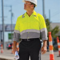 Enhanced & Hi-Visibility Long Sleeve Work Shirt - Long Sizes Thumbnail