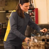 Women's Performance Plus Long Sleeve Shop Shirt with Oilblok Technology Thumbnail