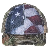 Camo Cap with Flag Sublimated Front Panels Thumbnail