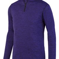 Youth Intensify Black Heather Quarter-Zip Pullover Thumbnail