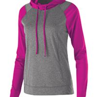 Ladies' Dry-Excel™ Echo Performance Polyester Knit Training Hoodie Thumbnail