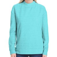 Ladies' Weekend French Terry Mock Neck Crew Thumbnail