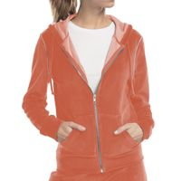 Ladies' Velour Full-Zip Hoodie Thumbnail