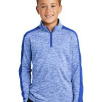 ® Youth PosiCharge ® Electric Heather Colorblock 1/4 Zip Pullover Thumbnail