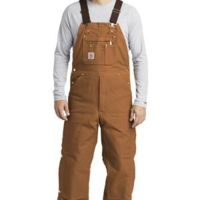 ® Duck Quilt Lined Zip To Thigh Bib Overalls Thumbnail
