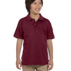Youth 6 oz. Ringspun Cotton Piqué Short-Sleeve Polo Thumbnail