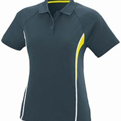 Ladies Wicking Polyester Mesh Sport Shirt with Contrast Inserts Thumbnail