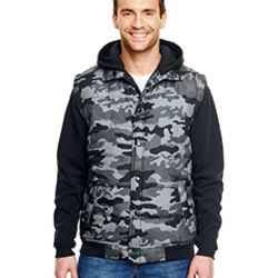 Adult Fleece Sleeved Puffer Vest Thumbnail