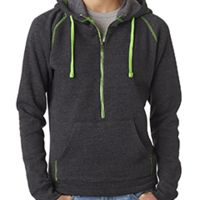Ladies' Triblend Half-Zip Fleece Hood Thumbnail