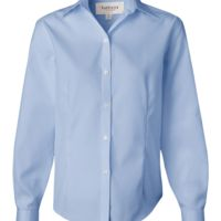 Van Heusen - Women's Non-Iron Pinpoint Oxford Shirt - 13V0144 Thumbnail