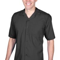 Men's Solid Poplin Camp Shirt Thumbnail