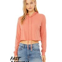 BELLA+CANVAS Fast Fashion 8512 - Women's Cropped L/S Hoodie Thumbnail